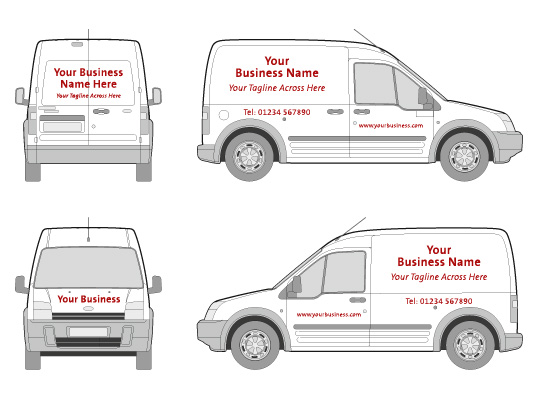 New page 2 for Van sign writing templates
